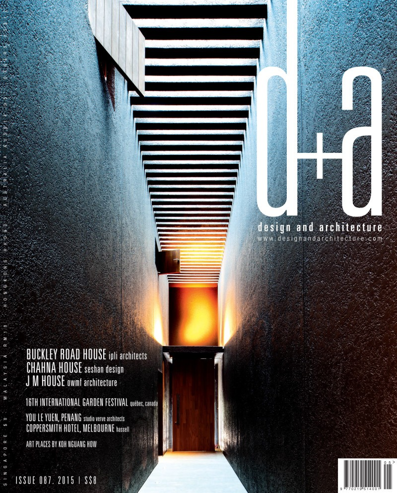 'Boutique Hotel in Penang' featured in D+A magazine, Singapore
